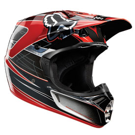 Fox Racing V3 Steel Faith Helmet 2012