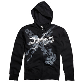 Fox Racing Red Bull XFighters Exposed Zip-Up Hooded Sweatshirt