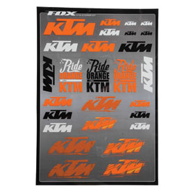 Fox Racing KTM Sticker Sheet