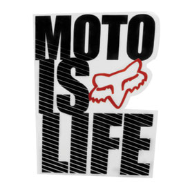 Fox Racing Moto Is Life Sticker