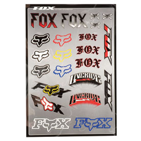 Fox Racing Victory Sticker Sheet