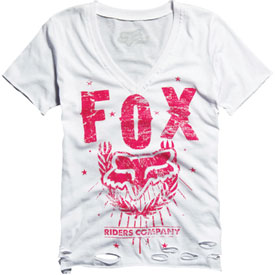 Fox Racing Qualified Torn Ladies V-Neck T-Shirt