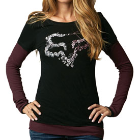 Fox Racing Valor Ladies 2Fer Long Sleeve T-Shirt