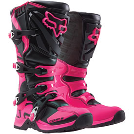 Fox Racing Women's Comp 5 Boots Size 6 Black/Pink