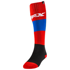 Fox Racing Women's Linc MX Socks Size 5-10 Blue/Red