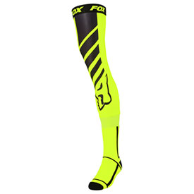 Fox Racing Mach One Knee Brace Socks Size 10-13 Flo Yellow