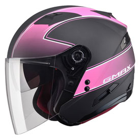GMax OF77 Classic Open Face Helmet Small Flat Black/Pink