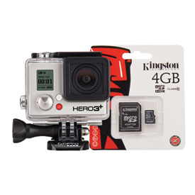 GoPro HD HERO3+ Black Edition Camera with Free 4GB Micro SD Card