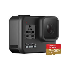 GoPro HERO8 Black Edition Camera with 32GB SD Card