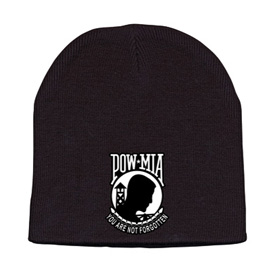Hot Leathers Embroidered POW-MIA Knit Beanie
