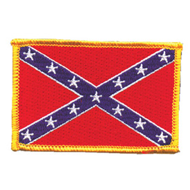 Hot Leathers Embroidered Patch -  Confederate Flag
