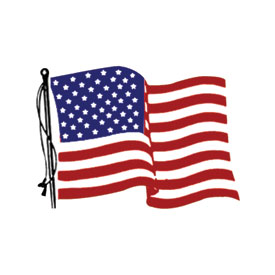 Hot Leathers Helmet Sticker - American Flag, Left Side