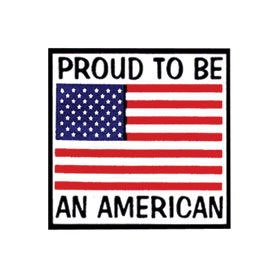 Hot Leathers Helmet Sticker - Proud To Be An American