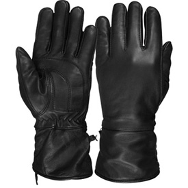 Hot Leathers Premium Gauntlet Ladies Motorcycle Gloves