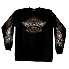 Hot Leathers Iron Eagle Long Sleeve T-Shirt