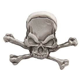 Hot Leathers Pirate Skull Pin
