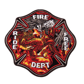 Hot Leathers Embroidered Patch -  Eagle vs Dragon