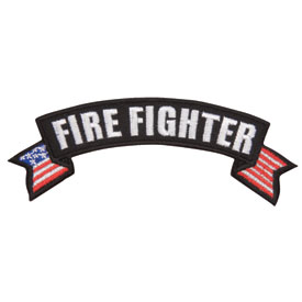 Hot Leathers Embroidered Patch -  Fire Fighter Banner