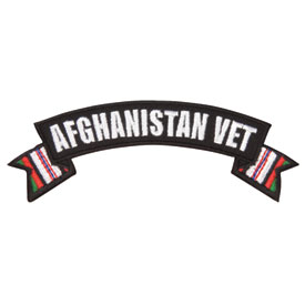 Hot Leathers Embroidered Patch -  Afghanistan Vet Banner