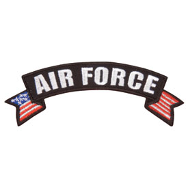 Hot Leathers Embroidered Patch -  Air Force Banner