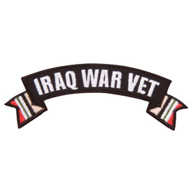 Hot Leathers Embroidered Patch -  Iraq War Vet Banner
