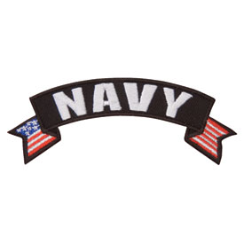 Hot Leathers Embroidered Patch -  Navy Banner