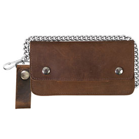 "Hot Leathers 8"" Bi-Fold Leather Wallet"