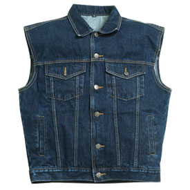 Hot Leathers Denim Motorcycle Vest