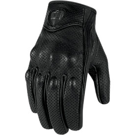 Icon Pursuit Touchscreen Perforated Ladies Motorcycle Gloves