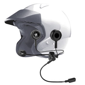 J & M® HS-ECD584 Helmet Headset - For Most Open-Face Helmets