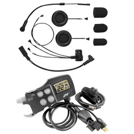 J & M® CB/Intercom & ECD584 Headset Starter System for Full-Face Helmets