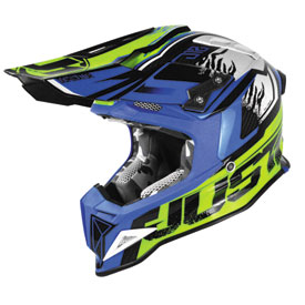 Just 1 J12 Dominator Helmet Large Yellow/Blue