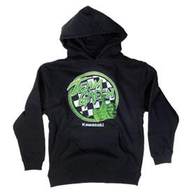 kawasaki youth team green hooded sweatshirt | casual | rocky