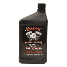 Klotz American V-Twin Synthetic Techniplate 20W-50 32 oz.