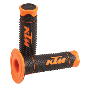 KTM Dual Compound Diamond Grips Black/Orange