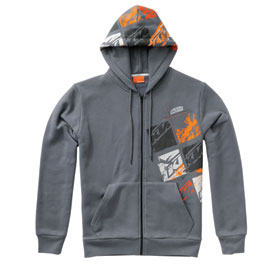 KTM Squares Zip-Up Hooded Sweatshirt