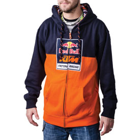 ktm red bull factory racing logo zip up hooded sweatshirt casual rocky mountain atv mc. Black Bedroom Furniture Sets. Home Design Ideas