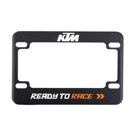KTM Motorcycle License Plate Frame Black