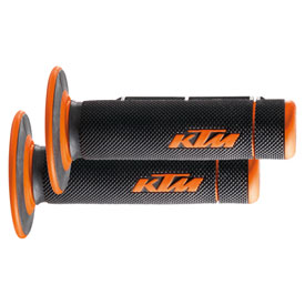 "KTM Dual Compound Grips ""Open End"" Black/Orange"