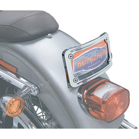 Kuryakyn Curved Tip-Back License Plate Frame