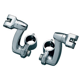 "Kuryakyn Longhorn Offset Foot Peg Mounts with 1-1/4"" Magnum Quick Clamps"