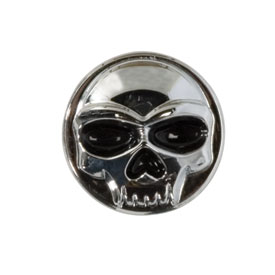 Kuryakyn Replacement Skull Emblem for Zombie Motorcycle  Foot Pegs
