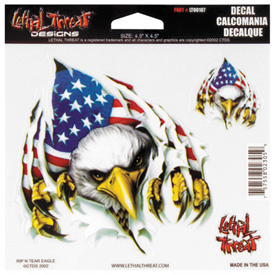 Lethal Threat® Rip 'N Tear Eagle Decal