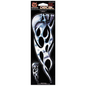 Lethal Threat® Tribal Chrome Skull Decal - Right