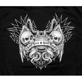 Lethal Threat® Live Free Ride Hard Skull T-Shirt
