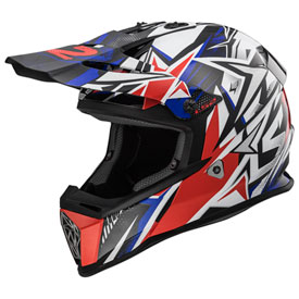 LS2 Fast V2 MX437 Helmet Large Strong Blue/Red