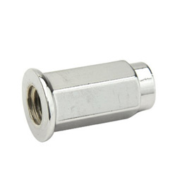 ITP Flat Base Chrome Lug Nut