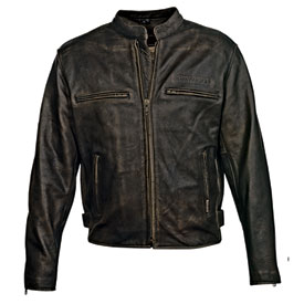 MMCC Crazy Horse Leather Motorcycle Jacket