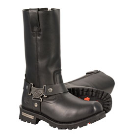 Milwaukee Leather Classic Harness Square Toe Motorcycle Boots