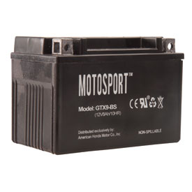 Motosport Maintenance-Free Battery with Acid